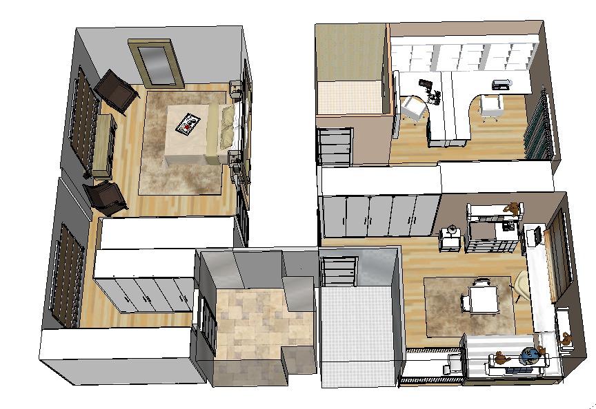 Proyecto decoracion 3d chalet ideas decoradores - Proyectos de chalets ...