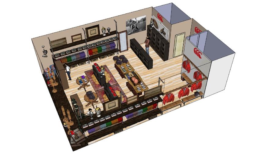 Proyecto decoracion 3d de local comercial ideas decoradores - Proyecto local comercial ...