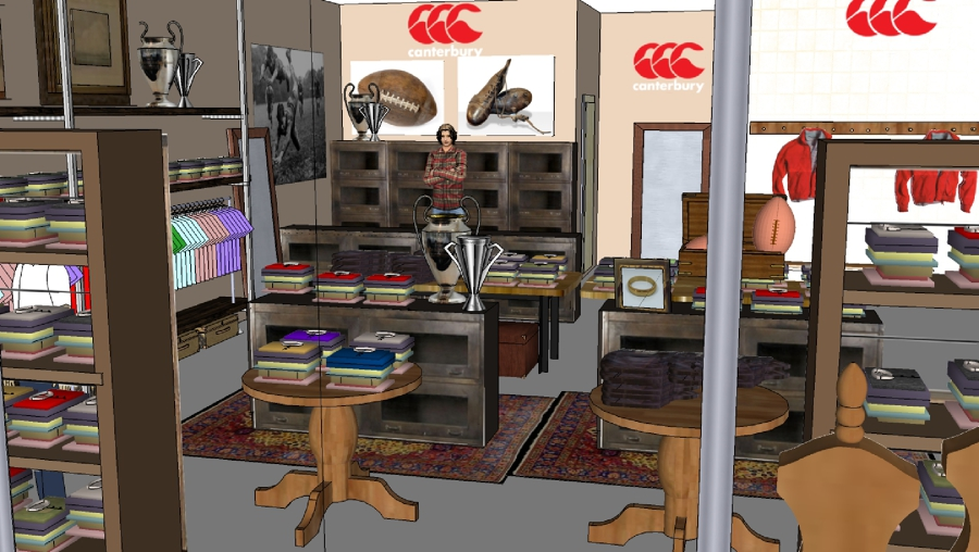 Zen Decoracion Albacete ~ Foto Proyecto Decoracion 3D de Tienda de Ropa Canterbury de Zen Dec?
