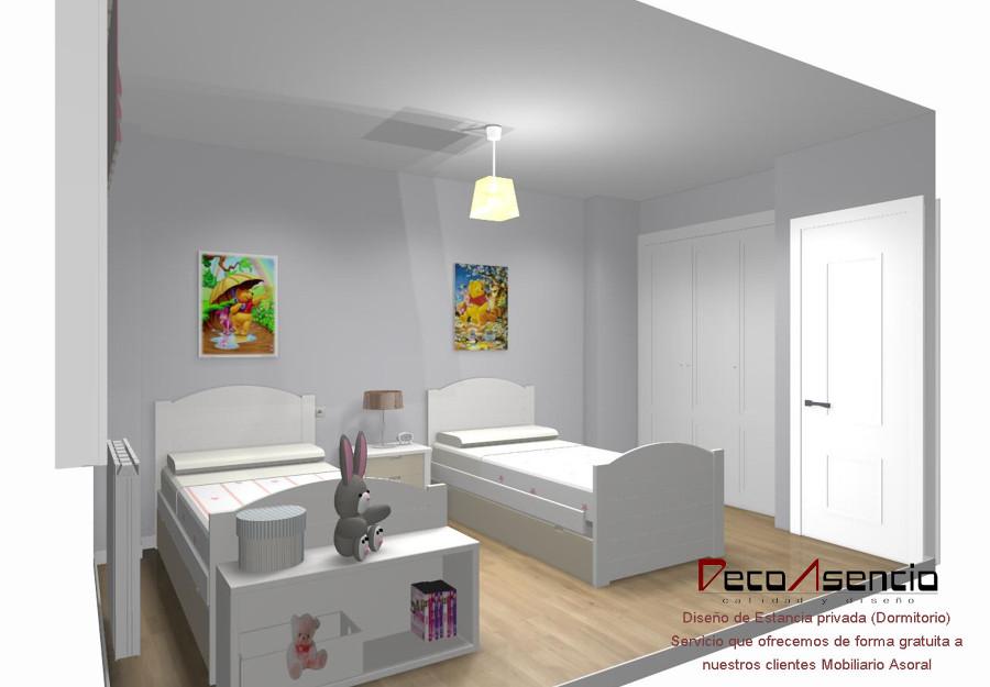 Asoral precios dormitorio compartido para dos hermanos for Precios de dormitorios infantiles