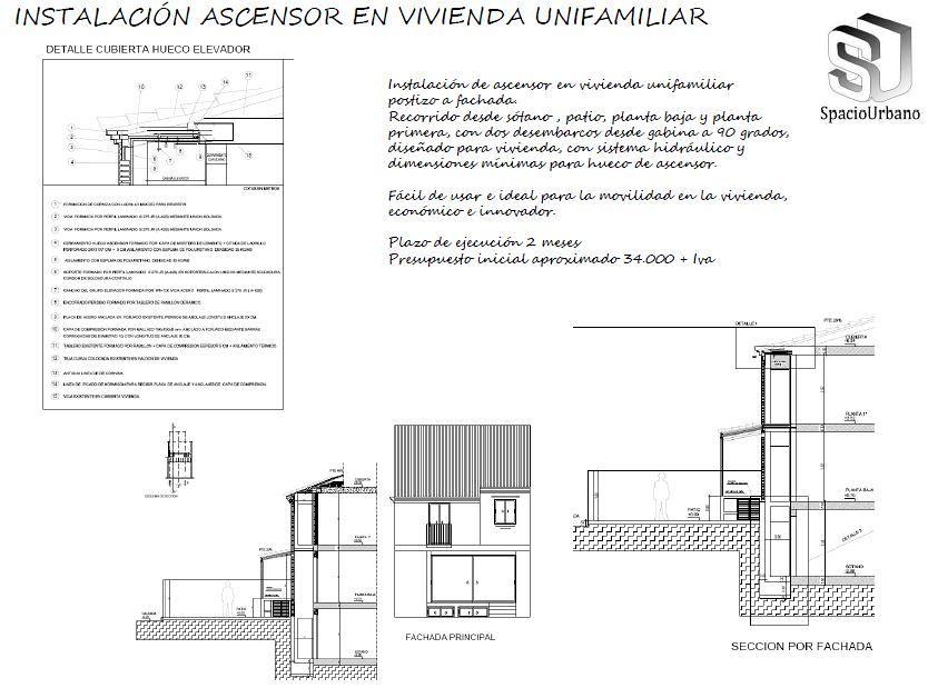 Proyecto de ampliaci n e instalaci n de ascensor en - Precio instalacion ascensor ...