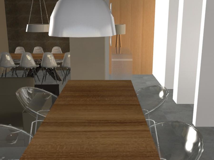 Interiorismo de salon comedor y recibidor ideas reformas - Interiorismo salon comedor ...