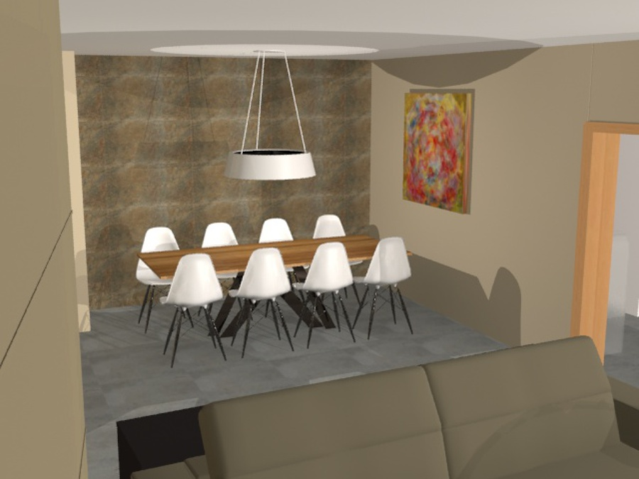 Proyecto Interiorismo Salón Comedor  Recibidor