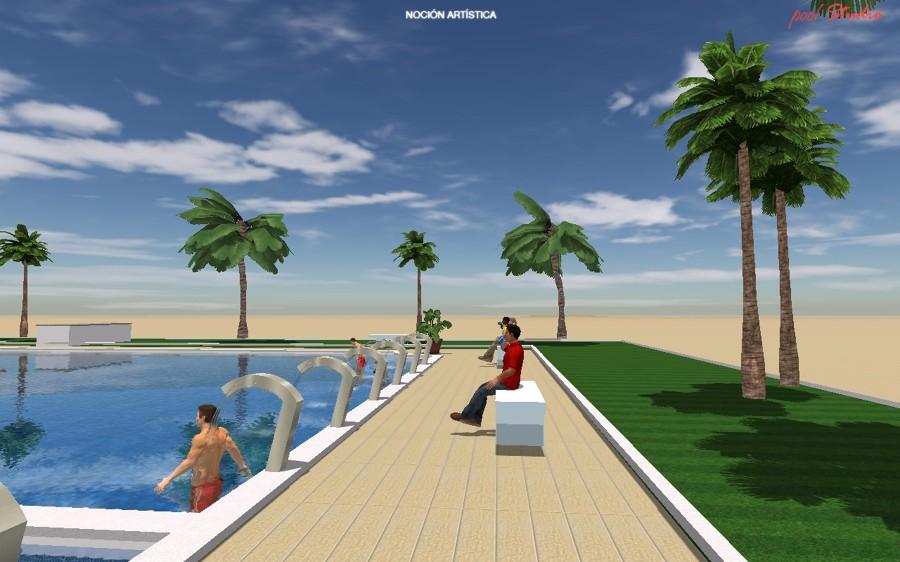 Proyecto piscina con ducha