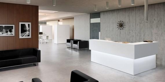 Foto proyecto recepci n de espacio aretha 242848 for Recepcion oficina moderna