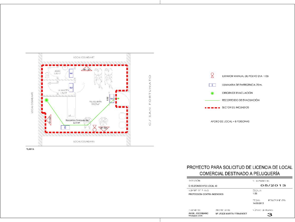 Proyecto t cnico de solicitud de licencia de actividad para local comercial destinado a - Proyecto de peluqueria ...