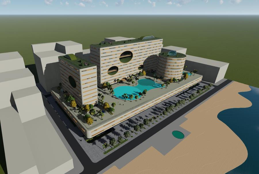 Proyecto teórico de propuesta de hotel, residencial y comercial