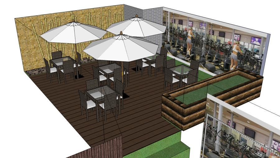 Proyecto decoraci n terraza gimnasio ideas decoradores for Ideas para construir una terraza