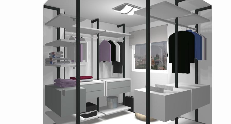 Proyecto Vestidor de JJP colección No limits
