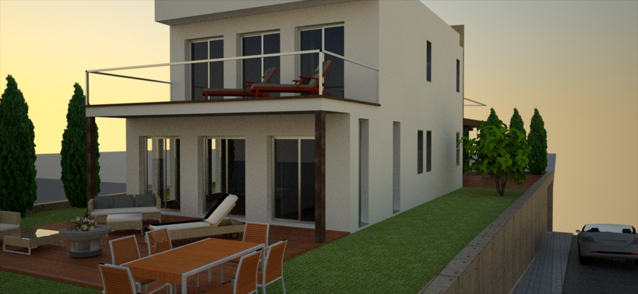 proyecto vivienda espacios exteriores