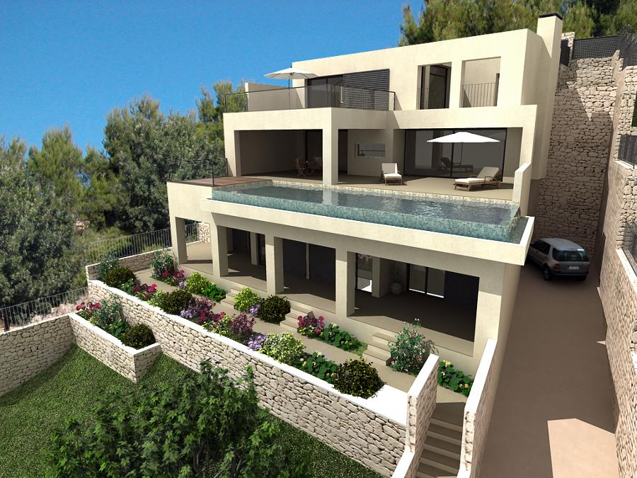 Casas Modernas Madrid Casa Moderna De Hormign Ecolgica