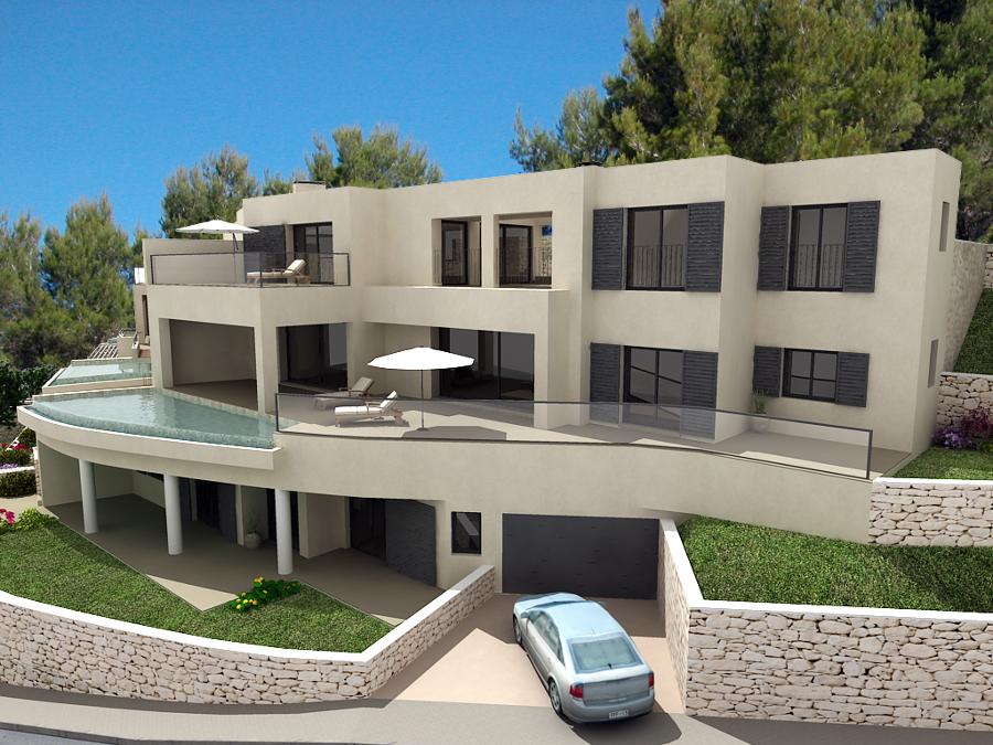 Proyectos de viviendas unifamiliares por arquitectos for Casas modernas unifamiliares