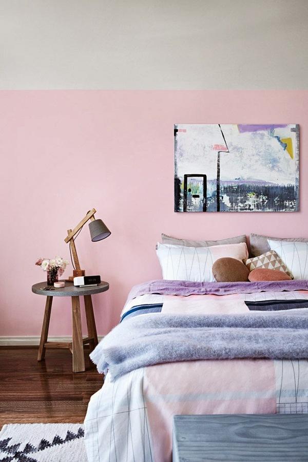 pared rosa