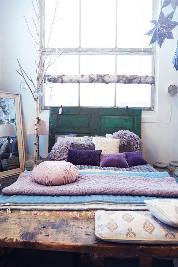 textiles lilas