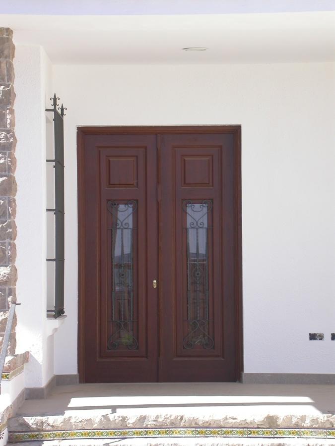 Puerta calle 2 hojas estilo valenciano
