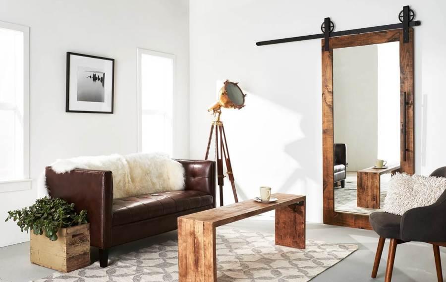 C mo emplear espejos para agrandar tu casa ideas decoradores for Espejo para pegar en puerta