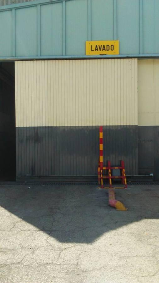 Puerta corredera de lavadero