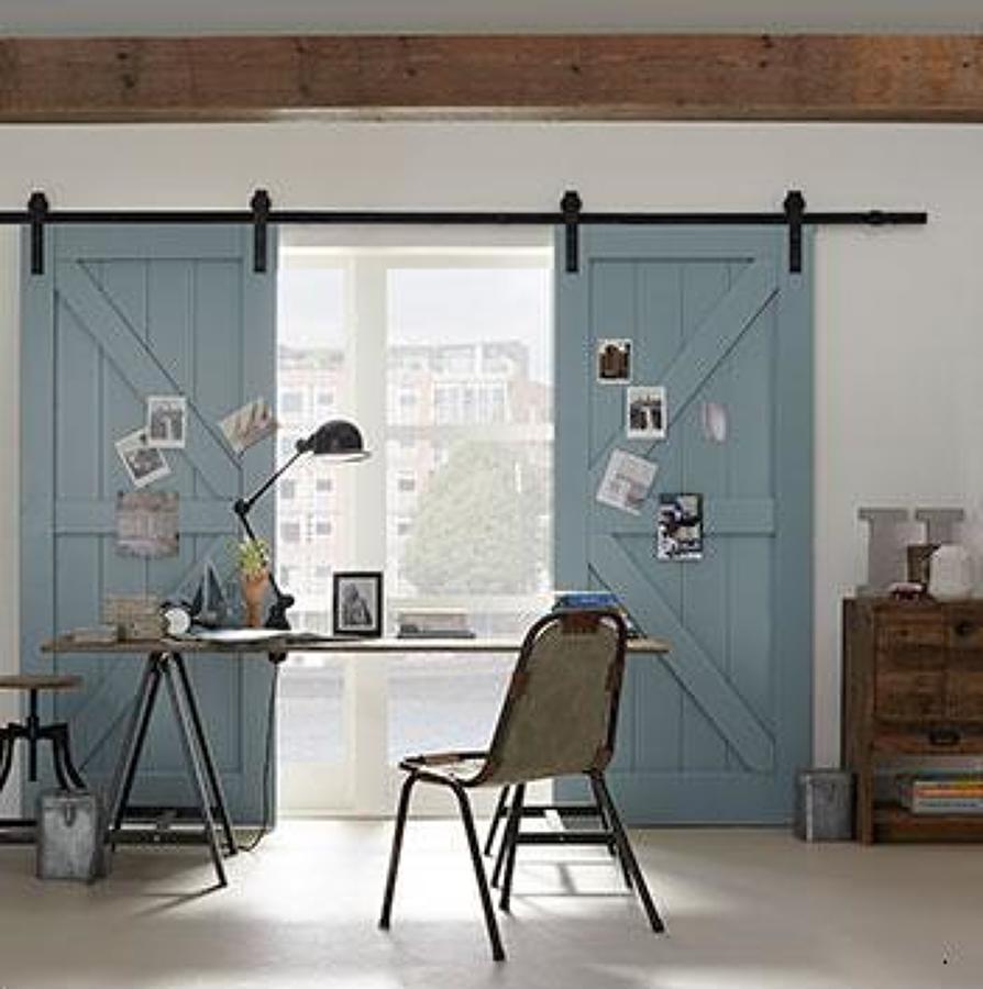 Puertas correderas de madera tipo granero en espa a - Como hacer puertas correderas ...