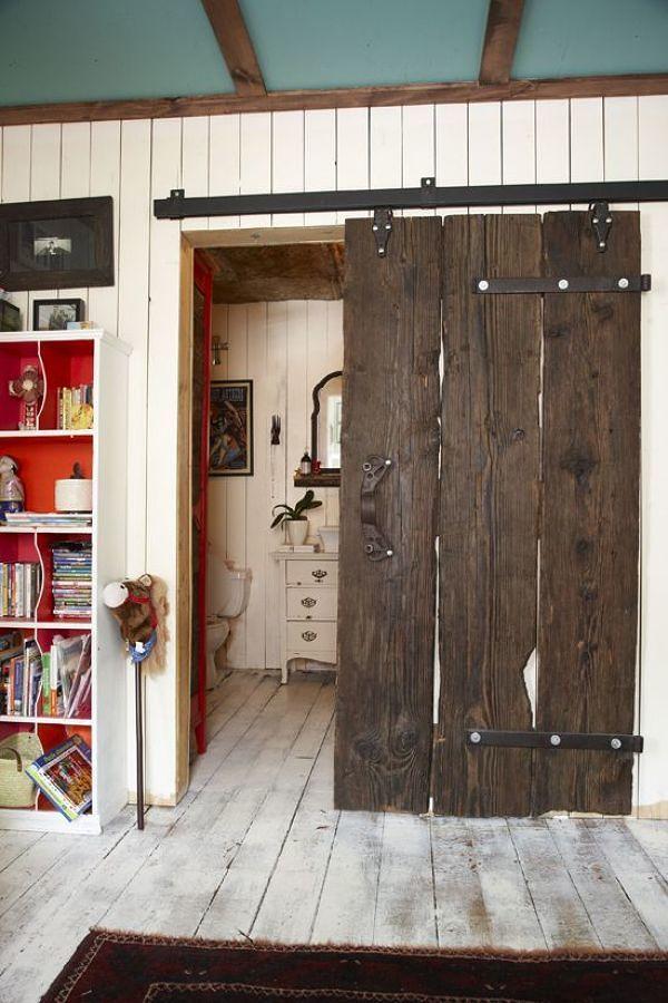 Puerta corredera tipo granero