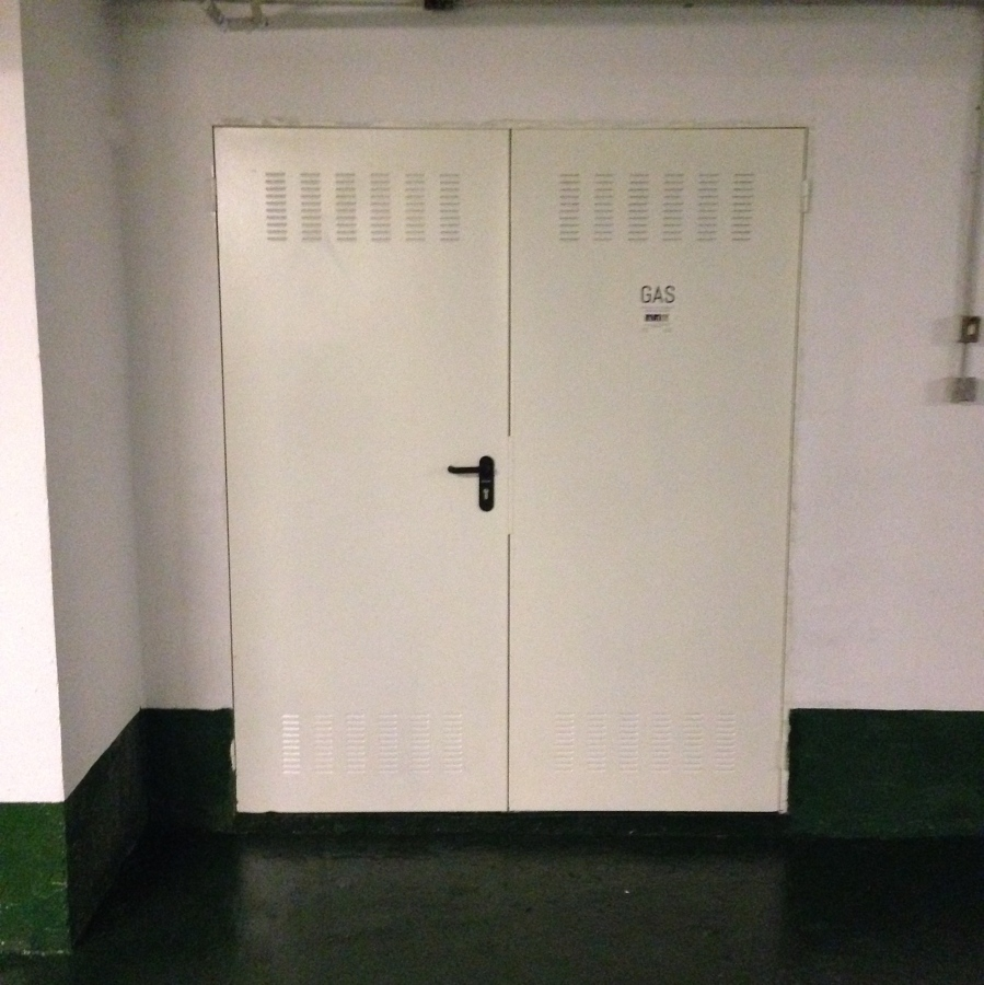 Puerta costa fuegos doble hoja