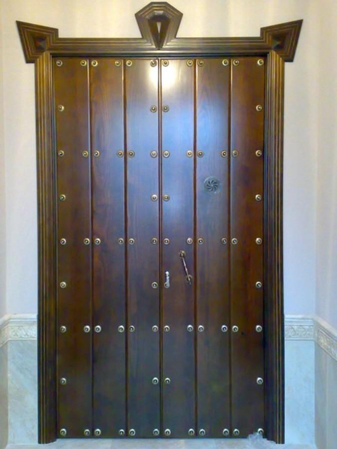 Foto puerta de entrada a medida de carpinter a montero de - Medidas puerta entrada ...