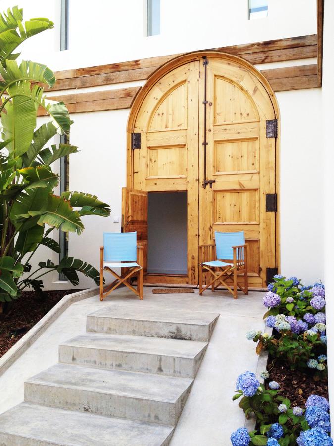 Puerta de entrada - Casa A | 08023 Arquitectos - Barcelona
