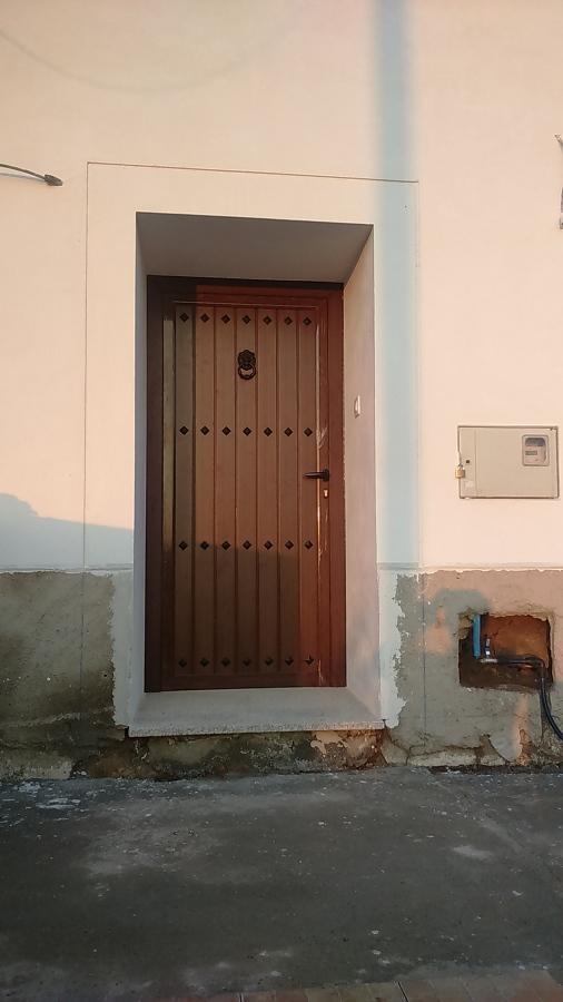 PUERTA DE ENTRADA PRINCIPAL DE ROTURA DE PUENTE  TERMICO IMITACION  EN MADEDRA