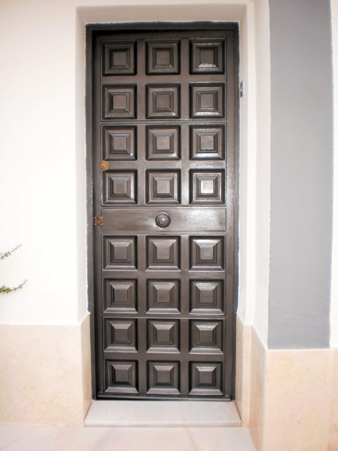 Precio puertas de hierro puerta reja de seguridad ventana balcon reforzada hierro with precio - Puertas correderas exteriores precios ...