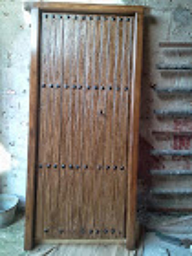 puerta de imitacion a madera al esmalte