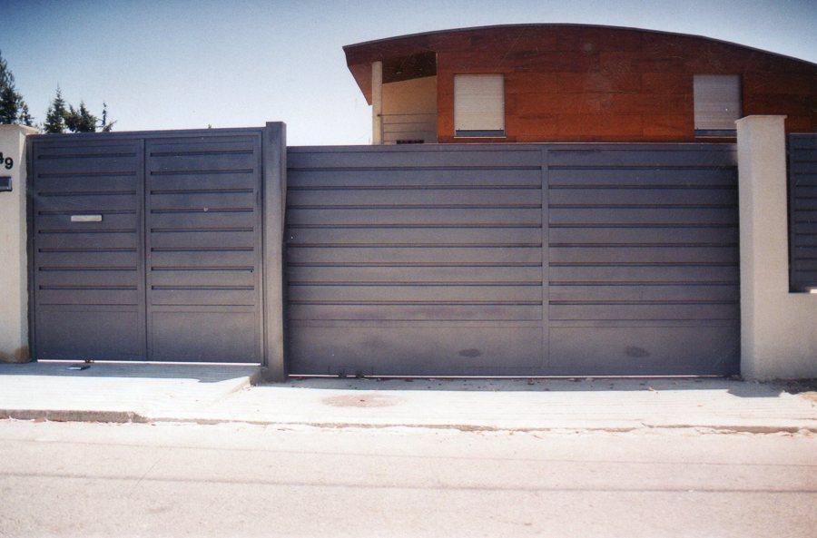 Puerta corredera de aluminio awesome proyecto puerta - Proyecto puerta de garaje ...