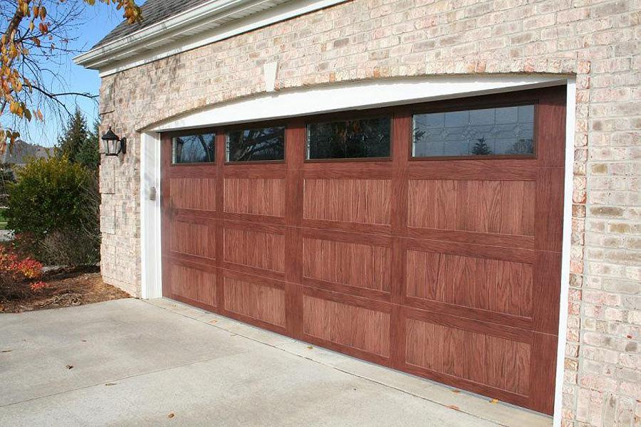 puerta garaje imitacin madera