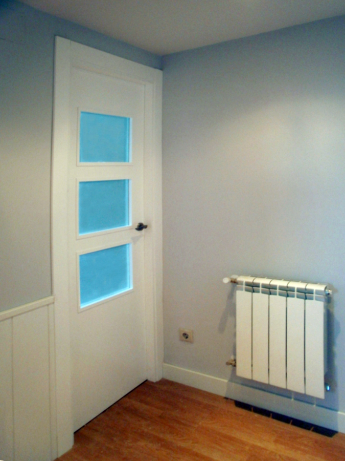 Foto puerta lacada en blanco de mega s l 196764 - Puertas de interior con cristales ...