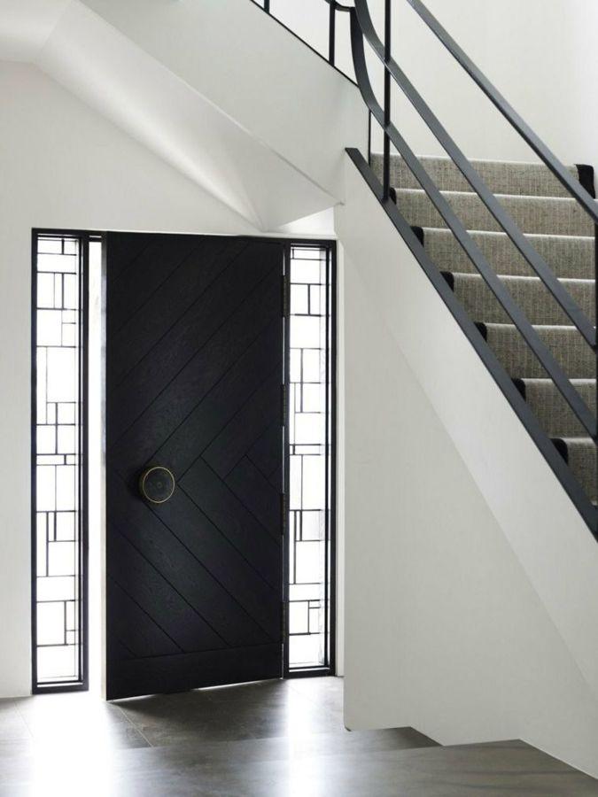 puerta lacada negro
