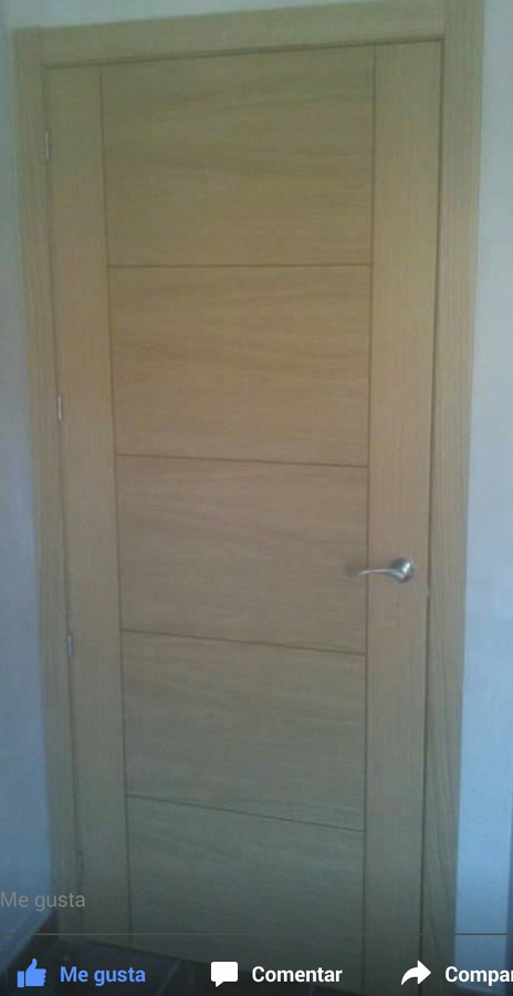 Puertas moderna de roble con rallas ideas carpinteros for Puertas roble modernas