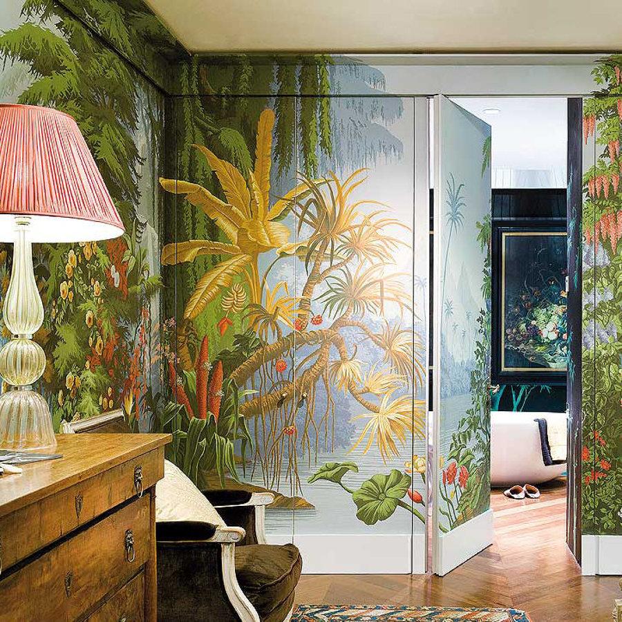 Dialas o malas puertas con papel pintado ideas for Papel pintado puertas