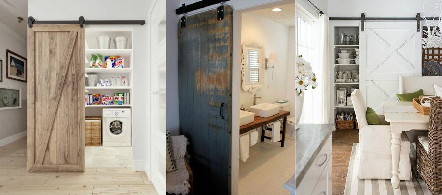 Puertas de tipo granero para decorar interiores son for Puertas de material reciclado
