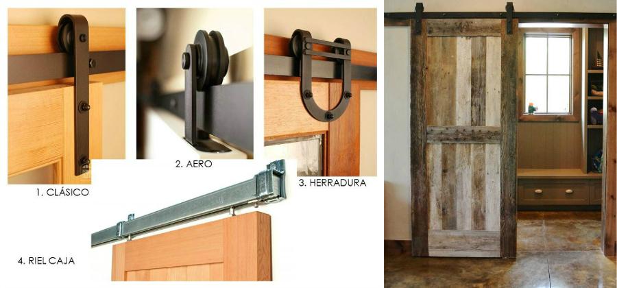 Puertas de tipo granero para decorar interiores son - Tipos de puertas correderas ...