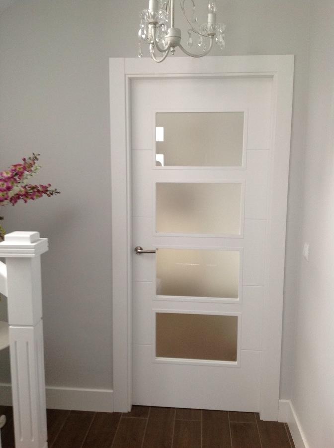 Puerta Vidriera lacada blanco