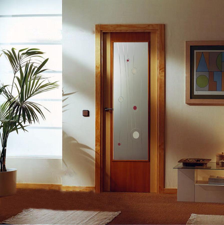 Puertas correderas de madera para interior affordable for Puertas interiores de madera con vidrio