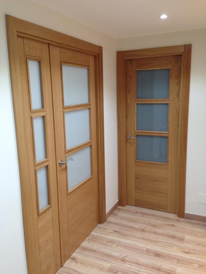 Puertas con vidrios de salon y cocina