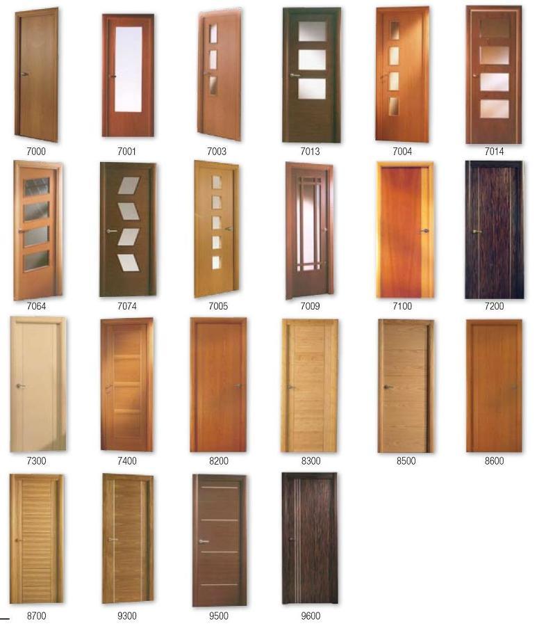 Puertas de madera ciegas o con vidriera