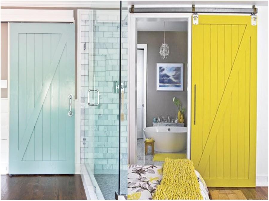 Puertas de tipo granero para decorar interiores son - Como hacer puertas correderas ...