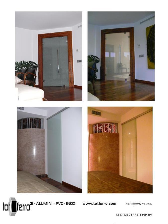 Puertas interiores abatibles y correderas