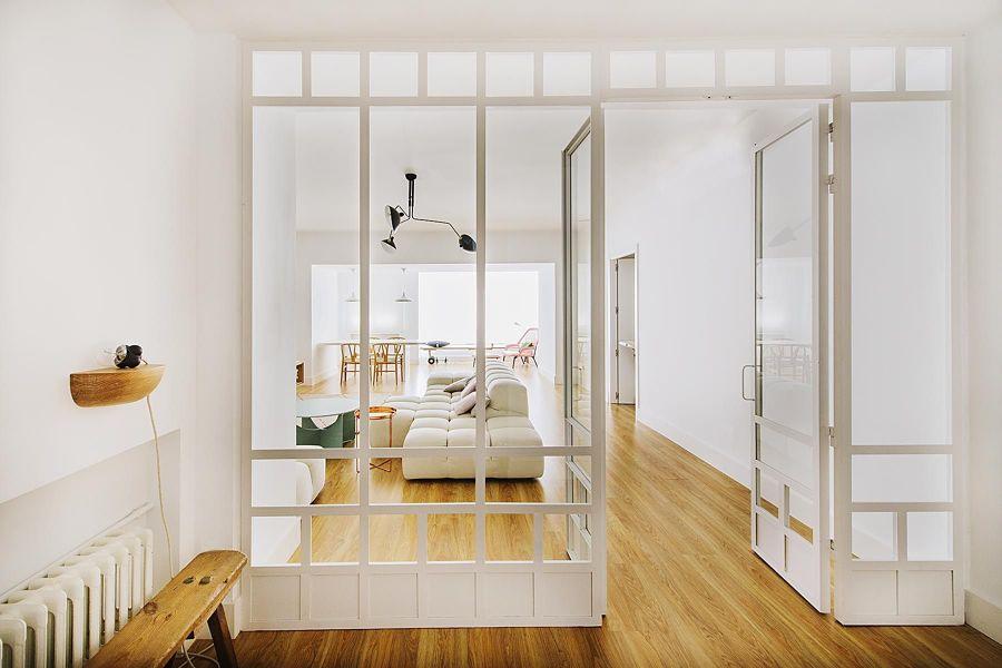Puertas interiores de madera y cristal