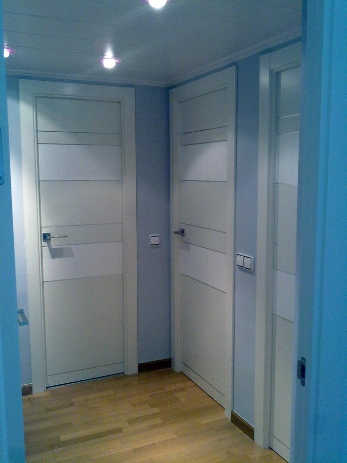 puertas lacadas con diferentes blancos