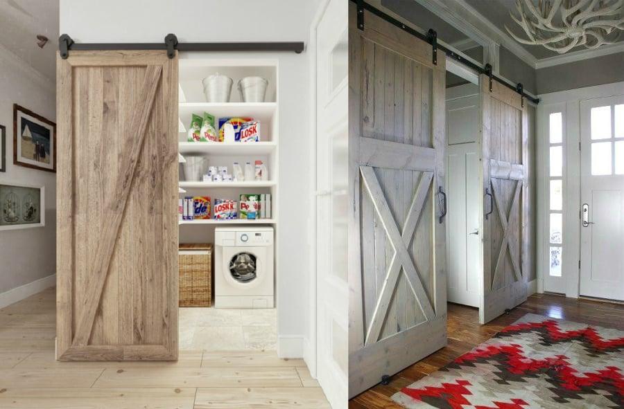 puertas de tipo granero para decorar interiores son