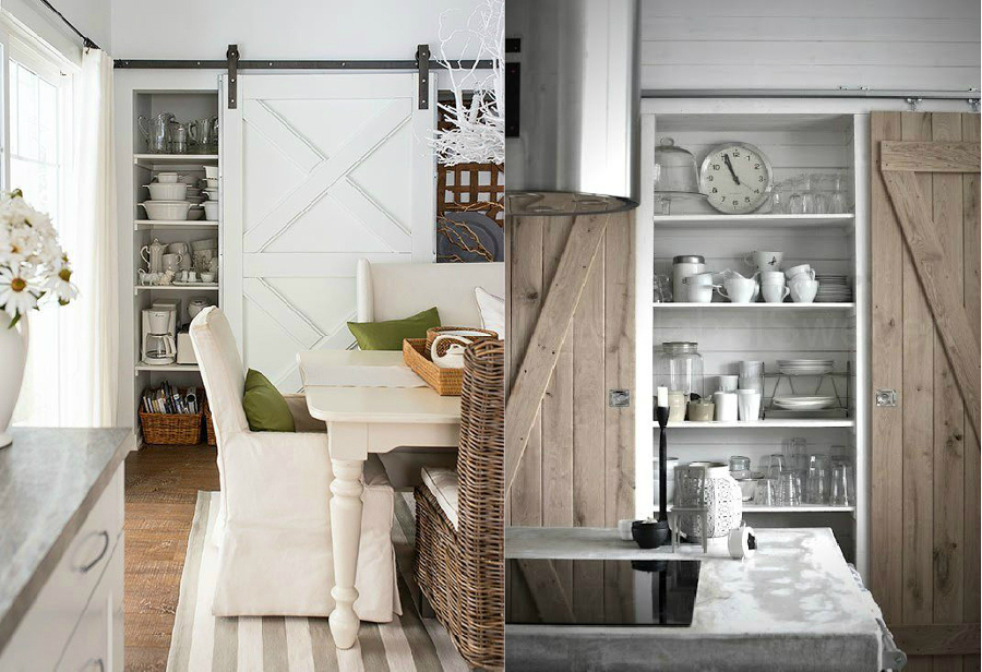 Puertas de tipo granero para decorar interiores son for Piani di casa cabina rustica