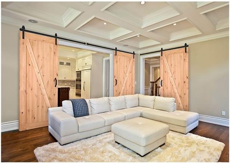 Puertas correderas de madera tipo granero en espa a - Puerta corredera granero ...