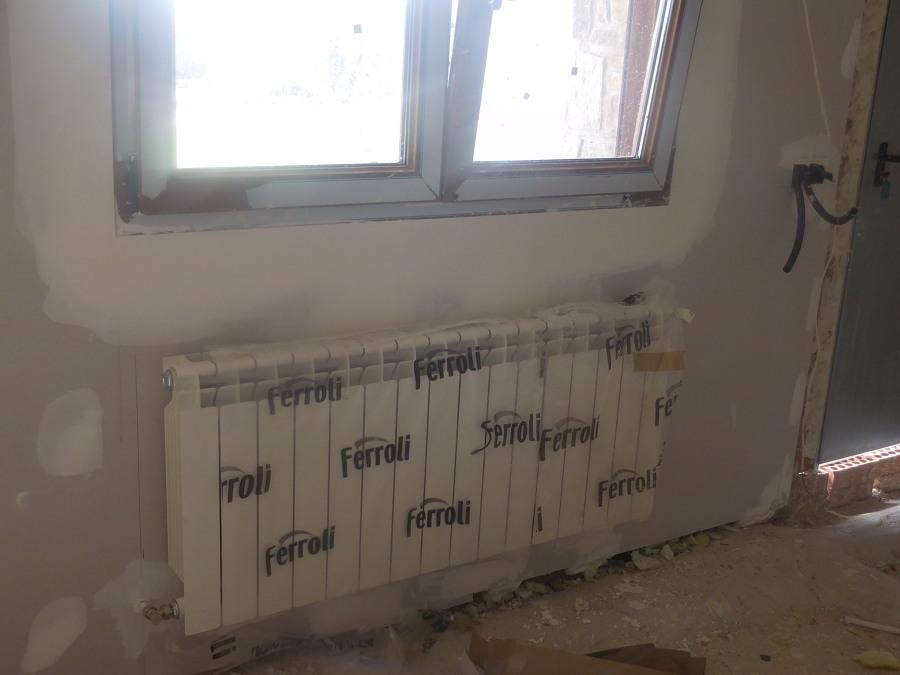Radiador de agua en salón