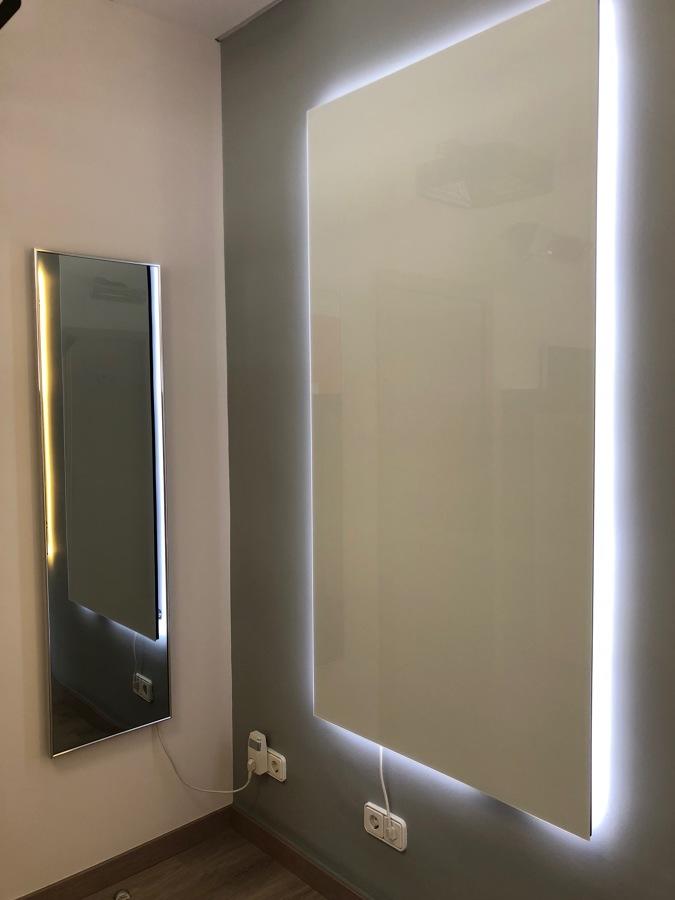 Welltherm Radiador Espejo y Radiador Metálico con LED